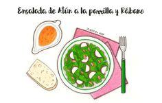 Ensalada de atún a la parrilla y rábano | Food Blogging Recetas Cocina Creativa Ilustración de comida Food Illustration