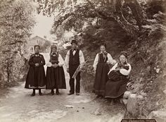 Axel Lindahl was a Norwegian photographer. These scenes near Telemark in the appear to have been made into postcards. Island 2, Ellis Island, Huron County, Lewis Hine, Berenice Abbott, Horse And Buggy, Folk Costume, Costumes, Culture