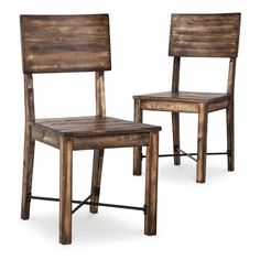 perdana dining chair brown set of 2