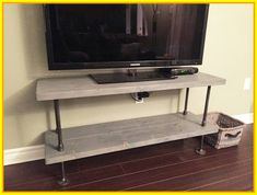 54 white industrial tv stand #white #industrial #tv #stand Please Click Link To Find More Reference,,, ENJOY!! Industrial Tv Stand, Industrial Console Tables, White Industrial, Industrial Chic, Vintage Industrial, Tv Stand Makeover, Diy Tv Stand, Corner Tv Stands, Corner Unit