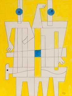 Carlos Merida -Untitled (1967)  Gouache, watercolor, pencil and ink on paper