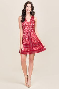 Delilah Lace Dress - red-clmodel