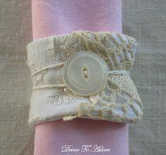 DIY::Romantic Antique Lace Napkin Rings