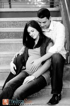 maternity photography - I like the idea of sitting on the steps, could be done inside as well