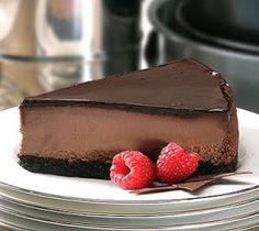 Chocolate Cheesecake (Williams Sonoma Dessert) uses 8 oz bittersweet chocolate, 24 oz cream cheese, 1/4 cup sour cream.