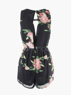 7dd67f80dea9 Sexy Floral Print Jumpsuit Romper Overall Playsuit White Short elegant club  for Women macacao feminino female ladies summer 2014