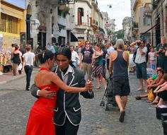 A pair of tango dancers performs in San Telmo in Buenos Aires, Argentina | 10 Best Places To Visit In South America