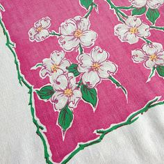 Vintage Tablecloth - floral