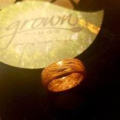 Jack Daniels Whiskey Barrel Ring Rose Gold & Ebony Custom | Etsy