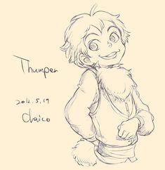 """Thumper"" from (Bambi) - Disney Animal Characters As Anime Humans Disney Pixar, Disney Fan Art, Disney And Dreamworks, Disney Animation, Walt Disney, Bambi Disney, Disney Dream, Disney Love, Disney Magic"