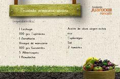 Receta Ecológica. Ensalada Primavera-verano