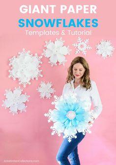 giant paper snowflake tutorial