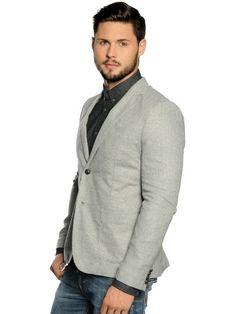 Selected Liam Blazer C light grey