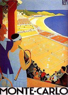 Roger Broders (1883-1953 ): Monte Carlo, 1930