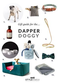 For the refined canine with impeccable taste, we've sniffed out 10 beautiful designer Christmas gifts that will most certainly get the woof of approval: http://www.styletails.com/2016/11/29/gift-guide-the-dapper-doggy/