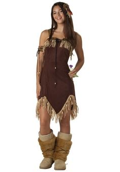 Our Indian Princess Teen Costume is great for Halloween or for a historic-themed party.