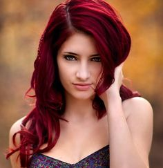 Hair tips and ideas :DIY Color Hair : Dark red hair color For Your Hairstyles