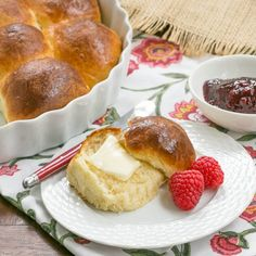 Tender, buttery brioche dinner rolls.