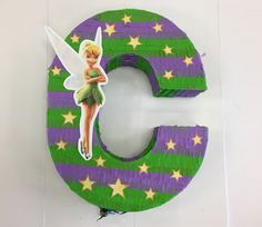 TINKERBELL PINATA, any letter, any number Tinkerbell Party,  Pull String Piñata or Pinata to hit, Peter Pan  cumpleaños , fiesta by TRUSTITI on Etsy