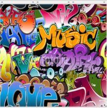 Graffiti urban art powerpoint template is one of the best powerpoint foto flchenvorhang graffiti seamless background hip hop art in verschiedenen gren blickdicht toneelgroepblik Gallery