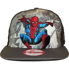 spiderman caps pinterest | New Era 9Fifty Hero Break Out Spiderman Snapback Cap : New Era
