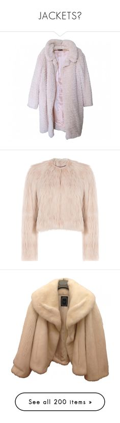 """""""JACKETS🖤"""" by rinadalghamdi ❤ liked on Polyvore featuring outerwear, coats, jackets, coats & jackets, pink coat, white coat, pink teddy bear coat, pink faux fur coats, button coat and tops"""
