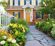 See how to create the most beautiful house on the block that is overflowing with curb appeal by choosing the right front door and amping up your front yard landscaping. Our gallery of ideas include stone walkways, picket fences, and front yard flower beds.
