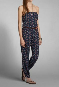 Coby Strapless Jumpsuit – Spring Floral