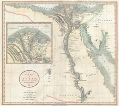 A New Map of Egypt. Taken from the Latest Authorities by John Cary, 1805 (Wikimedia)