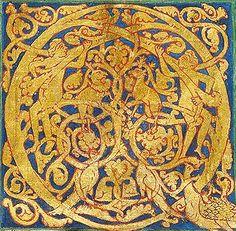 Initiale enluminée, Italie,12° siècle