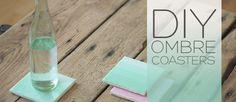 DIY OMBRE TISSUE PAPER COASTERS