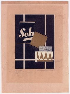 Kurt Schwitters, 'Mz 26, 45 Sch.',1925-6, Paper collage on paper laid down on the artist's mount,14.5x 10.6 cm
