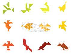 Tangram Birds Set | 003 stock vector art 3675184 - iStock - iStock DE