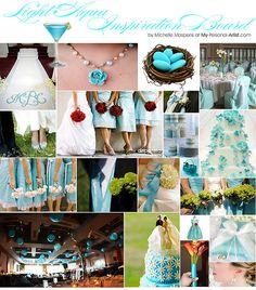 Tiffany blue and silver I think..