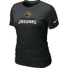 Women s Nike Jacksonville Jaguars Authentic Logo T-Shirt Black 7c1e3e3d0