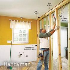 Framing: Build a temporary wall for new joist