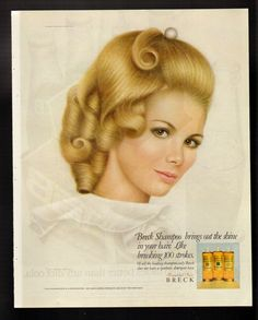 1968 Print Ad Breck Shampoo Blonde Breck Girl ... totally loved these magazine ads.