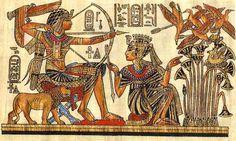 53.Había otros ornamentos impregnados de significado religioso o politico.Los sacerdotes llevaban plumas,hojas de loto,y pajaros que indicaban su rango.Las vestiduras de los faraones tambien dejaban traslucir un profundo simbolismo.El báculo y el latigo que sostenias, representaban la autoridad e su territorio.El anj un signo sagrado de vida se reservaba normalmente a reyes, reinas y dioses.La cobra era un simbolo exclusivo de reyes de Egipto se llevaba en la corona y en telas para la…