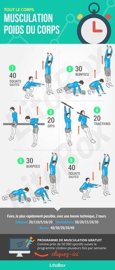 Programme musculation au poids du corps