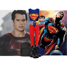 """Superman"" by trina-luvs-u-henley on Polyvore"