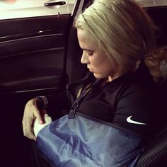 Lana and her fractured wrist.