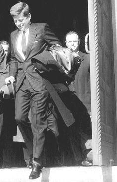 President~~JFK leaving mass, January 29, 1961.♡❀❁❤❁❤❁❤❁❤❁❤♡❀ http://en.wikipedia.org/wiki/John_F._Kennedy