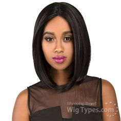 The Wig Synthetic Hair Invisible Deep Middle Part Lace Wig - LS DIVA [10971]