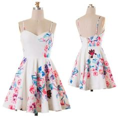 """New Floral sweetheart dress Sweet heart cut floral print pleated skater dress, with addable straps. 100% Polyester.  ✨ ✨.                              MEASUREMENTS FLAT✨.                                 ☀️SMALL: B15.5"""" W:12.5"""" L: 27""""                                  ☀️MEDIUM: B16.5"""" W: 13.5 L:27.5                              ☀️LARGE: 17"""" W: 14.5 L:27.5 Naturally Spiritual Boutique Dresses"""