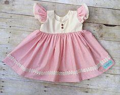 Pink Toddler Dress  1st Birthday Dress  Toddler Twirl Dress