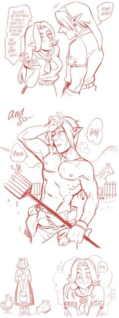 Why all those girls ask Link to do so many random chores ...I'm laughing so hard I'm crying!