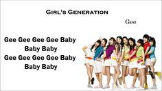 Girls'Generation(SNSD) Gee Lyrics