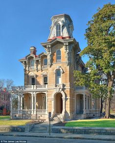Second Empire Victorian Old Mansions, Abandoned Mansions, Abandoned Houses, Old Houses, Victorian Architecture, Amazing Architecture, Classic Architecture, Beautiful Buildings, Beautiful Homes