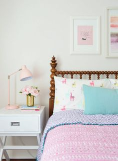 Young House Love   Who Puts An 100-Year-Old Bed In A Little Girl's Room Um, We Do.   https://www.younghouselove.com