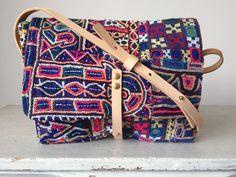 Shoulder bag made using vintage embroidered by LittleBagEmporium